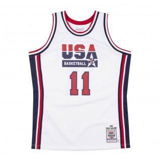 Maglia della squadra autentica USA Karl Malone 1992