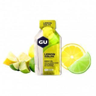 Confezione da 24 gel Gu Energy citron intense sans caféine