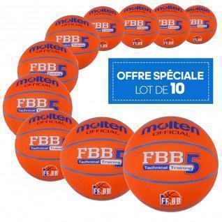 Confezione da 10 palloncini per il tempo libero Molten FBB Technical Training
